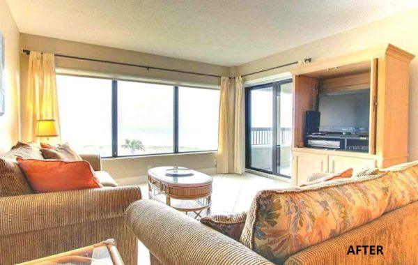 Beach Front Condo Occupied Home Staging